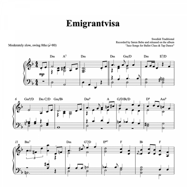 emigrantvisa piano sheet music pdf