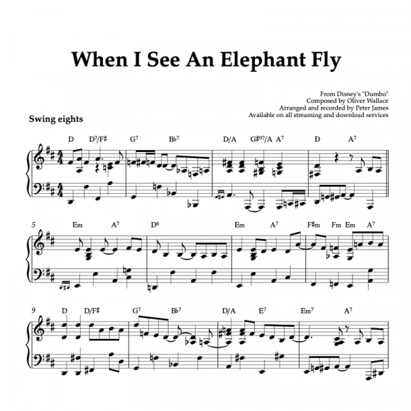 when i see an elephant fly piano sheet music pdf
