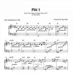 ballet class score for plie