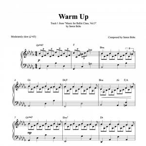 warm up piano sheet music for ballet class