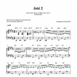 Jete 2 ballet class piano sheet music pdf
