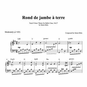 rond de jambe a terre piano sheet music for ballet class