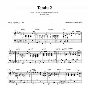 tendu ballet class sheet music pdf download