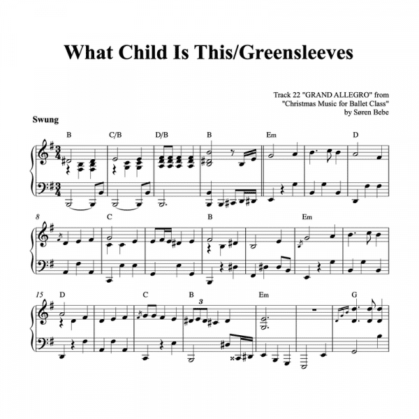 piano sheet music for what child is this greenslevees