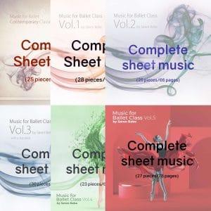 sheet music for ballet class