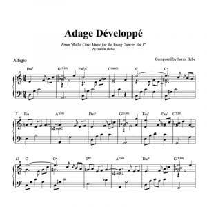 adage developpe piano sheet music pdf