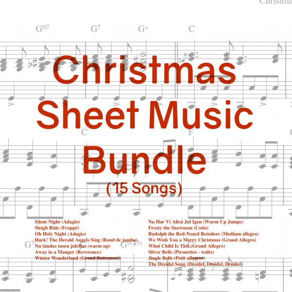 christmas sheet music for ballet class 15 pieces