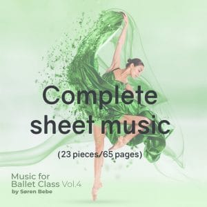 complete piano score for ballet class accompaniement