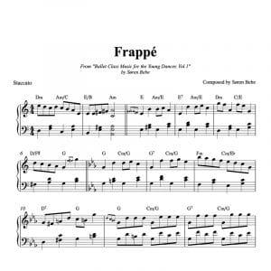 frappe ballet class sheet music for children