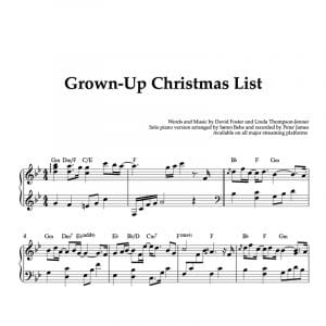 piano christmas sheet music for the song grown up christmas list