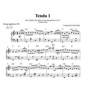 tendu piano score for kids ballet class