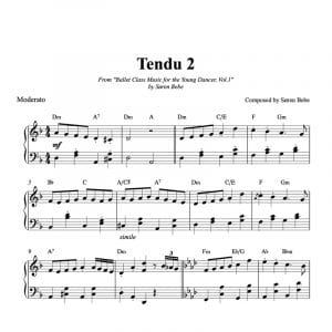 ballet class score for tendu kids exercise