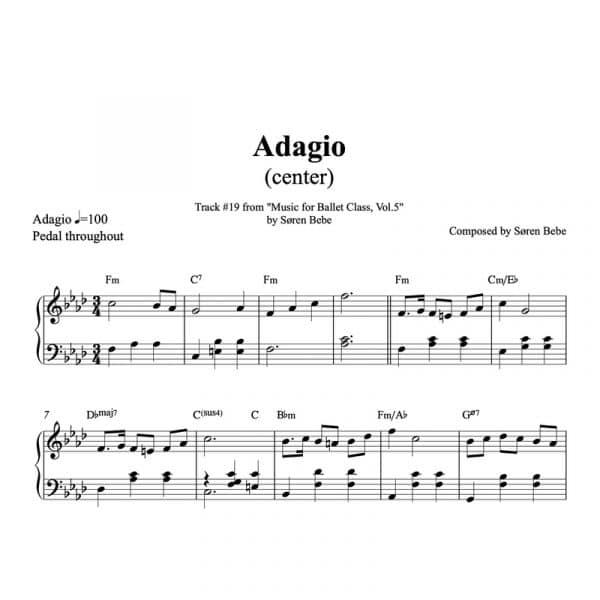 piano sheet music for ballet class adagio pdf