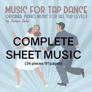 piano sheet music for tap dance