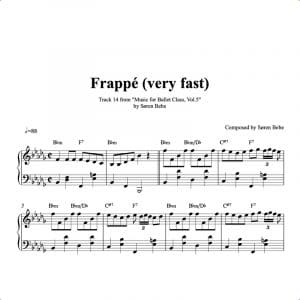frappe piano sheet music