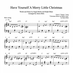 "piano sheet music for the Christmas song ""have yourself a merry little Christmas"""