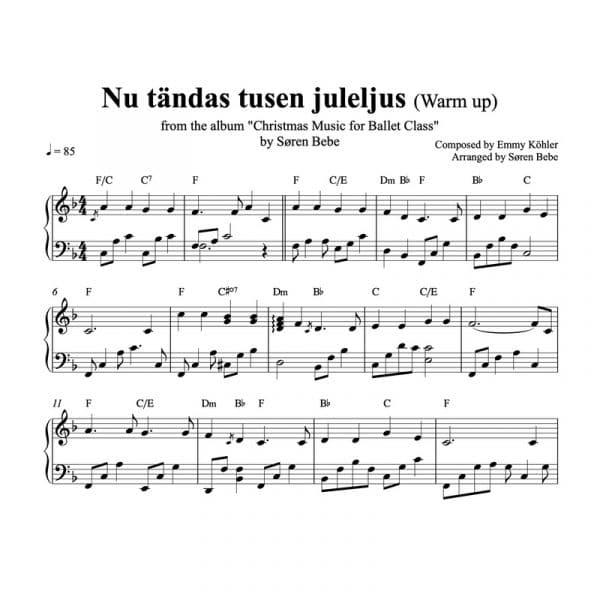 nu tændes tusind julelys klaver node pdf