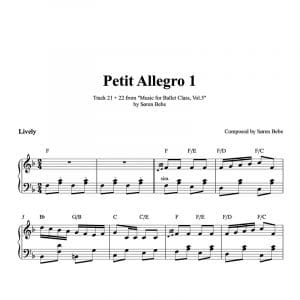 ballet class sheet music for petit allegro polka