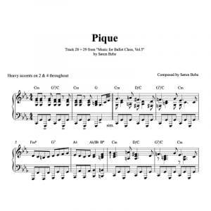 pique piano sheet music