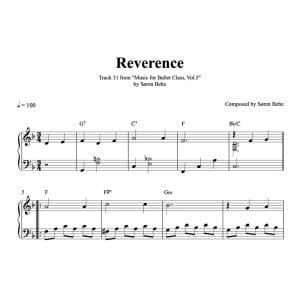 reverence piano sheet music