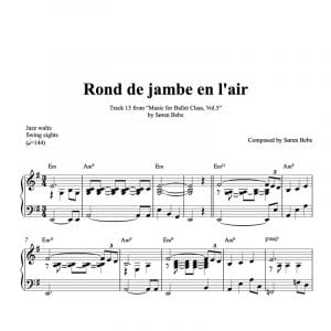 piano sheet music for rond de jambe en lair