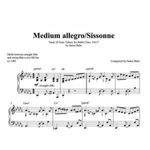 sissonne ballet class sheet music