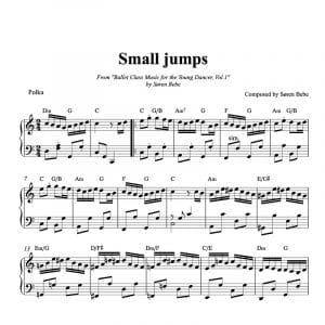 piano ballet class sheet music for small jumps