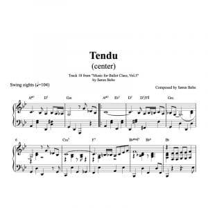 ballet class sheet music tendu