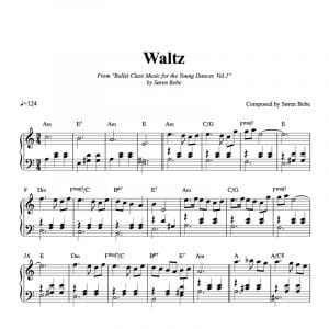 Sheet music for a waltz for children's ballet class