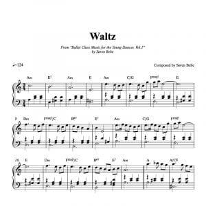 Sheet music for a waltz for children's ballet class