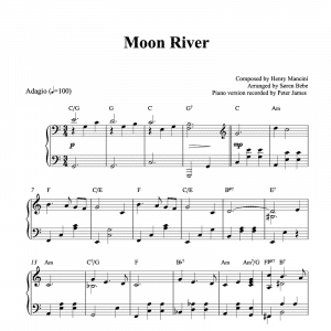 piano sheet music for the song moon river by henry mancini pdf download