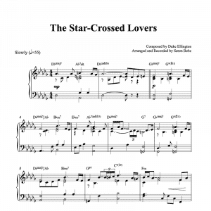 the star-crossed lovers duke ellington piano sheet music pdf