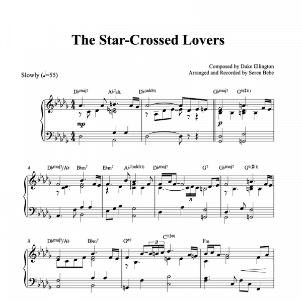 the star-crossed lovers duke ellington piano sheet music pdf