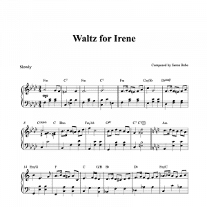 waltz for irene by soren bebe piano sheet music pdf
