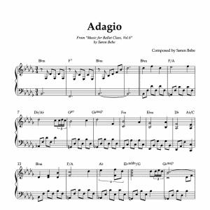 ballet class sheet music for adagio soren bebe