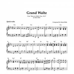 grand waltz sheet music for ballet