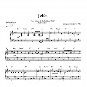 a Disney jazz inspired jeté sheet music for ballet vol.6