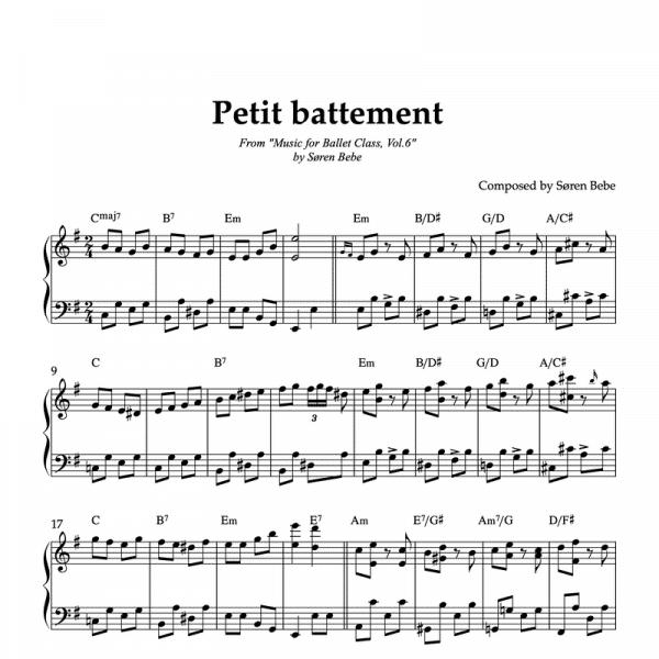 petit battement piano sheet music for ballet