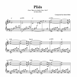 beautiful plie sheet music for ballet vol.6
