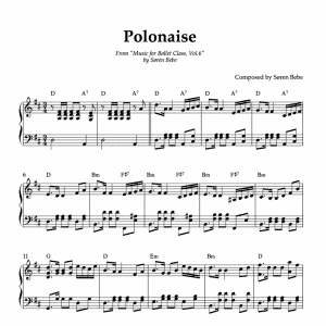 polonaise piano sheet music for ballet