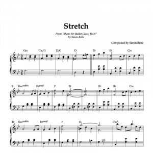 sheet music for ballet class stretching