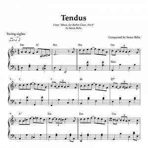jazz inspired tendu sheet music for ballet vol.6