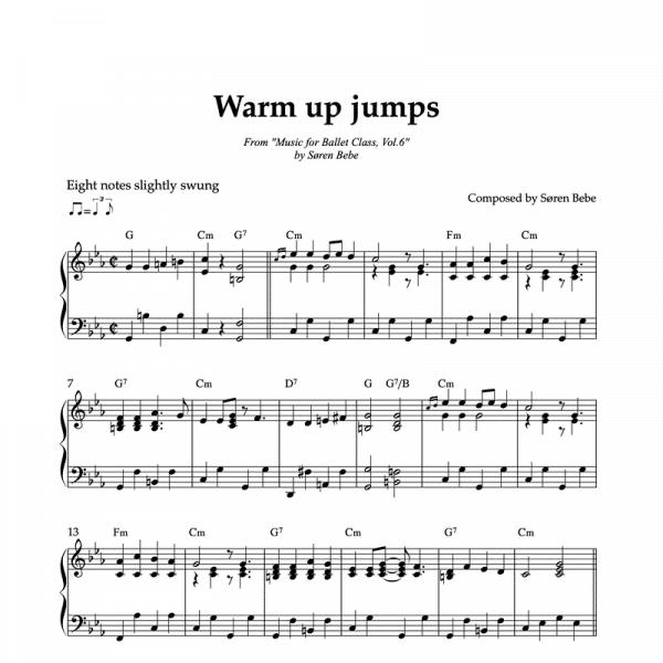 warm up jumps sheet music for ballet vol.6