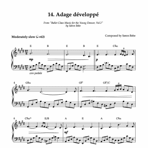 piano sheet music for adage developpe pdf download