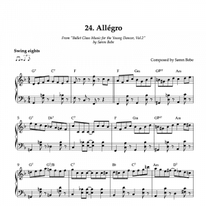 piano sheet music for allegros