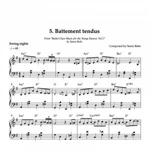 battement tendu piano sheet music