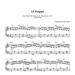 Frappé piano sheet music for children's ballet class pdf