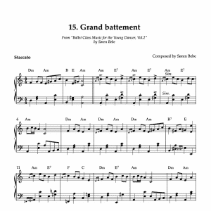 sheet music for grand battement pdf download