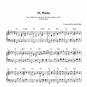 piano score for ballet class waltz pdf
