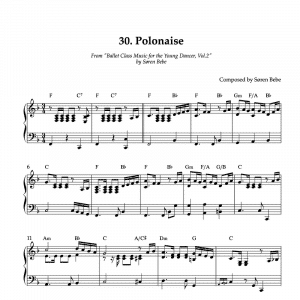 polonaise piano sheet music
